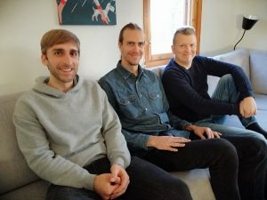 Axel Thesleff and Oliver Obolgogiani present in a meeting with Mika Karhumaa