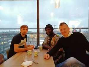 Streaming promotion meeting with Oliver Obolgogiani and Ricky Ghansah