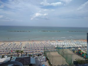 Pesaro Italy Adriatic Sea beach morning